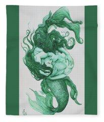 Embracing Mermen Fleece Blanket