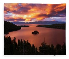 Emerald Bay Fire Fleece Blanket