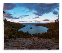 Emerald Bay Granite By Brad Scott Fleece Blanket