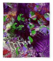 Emerald Butterflies Of Costa Rica Fleece Blanket