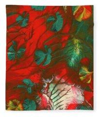 Emerald Butterfly Island Fleece Blanket
