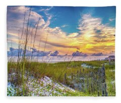 Emerald Coast Sunset Fleece Blanket