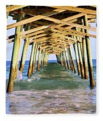 Emerald Isles Pier Fleece Blanket