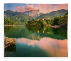 Emerald Mirror Fleece Blanket