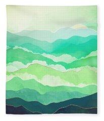 Emerald Spring Fleece Blanket