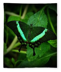 Emerald Swallowtail Fleece Blanket