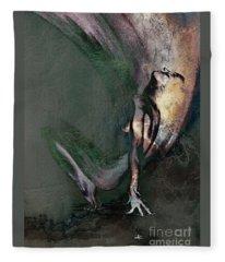 emergent II - textured Fleece Blanket