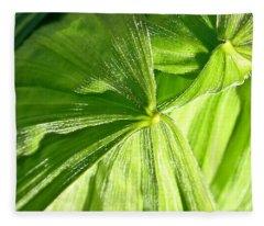 Emerging Plants Fleece Blanket
