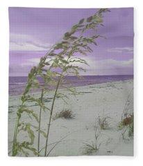 Emma Kate's Purple Beach Fleece Blanket