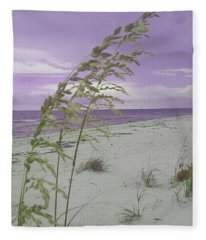 Emma Kate's Purple Beach Fleece Blanket