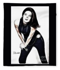 Emma Peel #1 Fleece Blanket