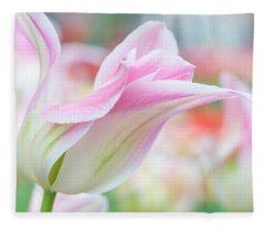 Emollient Lightness. Tulips Of Keukenhof Fleece Blanket