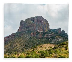 Emory Peak Chisos Mountains Fleece Blanket