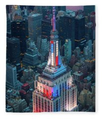Empire State From Above Fleece Blanket