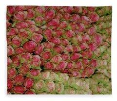 Empress Josephine's Roses Fleece Blanket