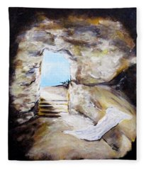 Empty Burial Tomb Fleece Blanket