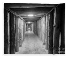 Empty Corridor Fleece Blanket