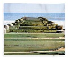 Empty Dock Fleece Blanket