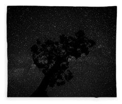 Empty Night Tree Fleece Blanket