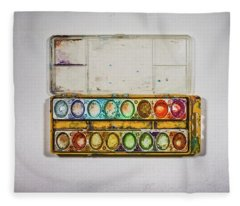 Empty Watercolor Paint Trays Fleece Blanket