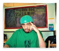 Emwot- Green At Seed Cafe Fleece Blanket
