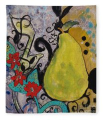 Enchanted Pear Fleece Blanket
