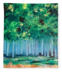 Enchanted Poplars Fleece Blanket