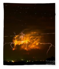 Enchanted Rock Lightning Fleece Blanket