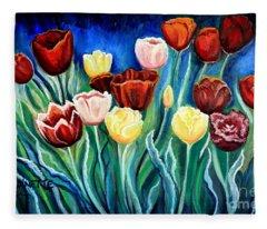 Enchanted Tulips Fleece Blanket