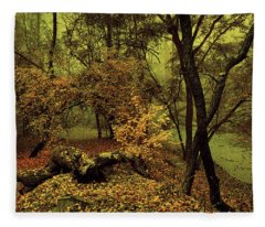 Enchanted Woods. Moon Light Fleece Blanket