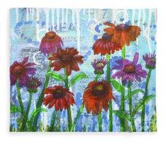 Enchanting Echinacea Fleece Blanket