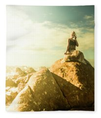 Enchanting Western Tasmania Girl Fleece Blanket