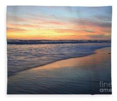 Encinitas Blue  Fleece Blanket