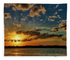 End Of A Glorious Summer's Day Fleece Blanket