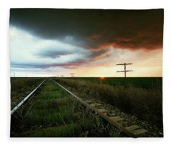 End Of A Stormy Day Fleece Blanket