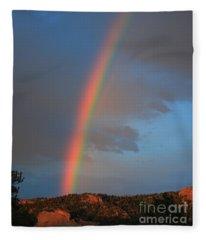 End Of The Rainbow Fleece Blanket