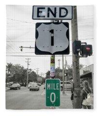 End Of The Road Baby Key West Fleece Blanket