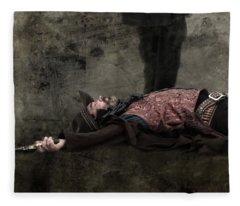End Of The Trail - Gunslinger Meets His End Fleece Blanket