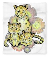 Endangered Animal Amur Leopard Fleece Blanket