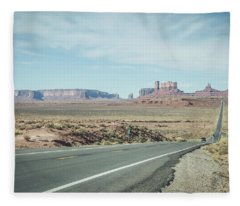 Endless Roads In Monument Valley Fleece Blanket