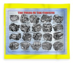 Eng-19_corvette-engines Fleece Blanket