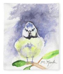 English Blue Tit Fleece Blanket