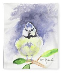 English Blue Tit Fleece Blanket