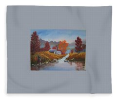 English Countryside Fleece Blanket