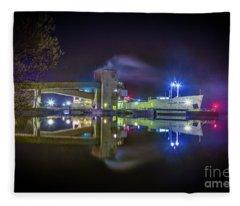 English River At Lafarge, Napanee Fleece Blanket
