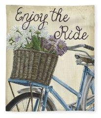 Enjoy The Ride Vintage Fleece Blanket