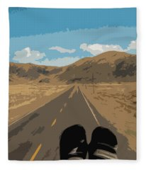Enjoying The View Of The Peruvian Countryside Fleece Blanket