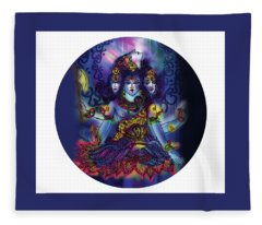 Enlightened Shiva Fleece Blanket