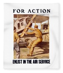Enlist In The Air Service Fleece Blanket