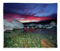 Enter A Tahoe Dream Fleece Blanket